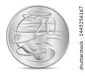 australian twenty cents coin in ... | Shutterstock .eps vector #1445256167