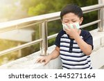a 5 years old boy wearing a... | Shutterstock . vector #1445271164