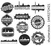 washington dc usa skyline...   Shutterstock .eps vector #1445272421
