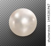 realistic white pearl with... | Shutterstock .eps vector #1445281967
