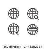 globe icon symbol set  web icon ... | Shutterstock .eps vector #1445282384