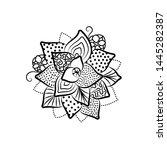 outline succulent bouquets... | Shutterstock .eps vector #1445282387
