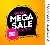 vector illustration mega sale... | Shutterstock .eps vector #1445297297