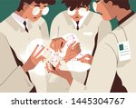 group of scientists or... | Shutterstock .eps vector #1445304767