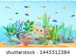 sea plants with different... | Shutterstock . vector #1445312384