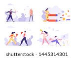 targeting  social media... | Shutterstock .eps vector #1445314301