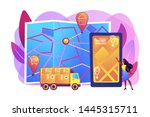 tracking delivery  package on... | Shutterstock .eps vector #1445315711