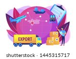 established international trade ... | Shutterstock .eps vector #1445315717