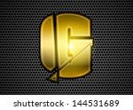 gold crushed letter g with... | Shutterstock .eps vector #144531689