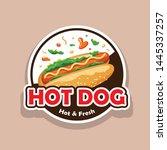 vector hot dog message  design... | Shutterstock .eps vector #1445337257