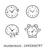 time alarm clock hand drawn... | Shutterstock .eps vector #1445346797
