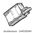 sketchy cigarette pack | Shutterstock .eps vector #144535049