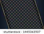 luxury black background with 3d ...   Shutterstock .eps vector #1445363507
