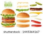 big double burger maker... | Shutterstock .eps vector #1445364167