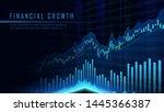 concept art of financial growth ... | Shutterstock .eps vector #1445366387