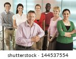 group portrait of multiethnic... | Shutterstock . vector #144537554
