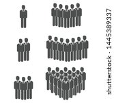 people group icon vector symbol | Shutterstock .eps vector #1445389337