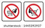 no children on the shopping... | Shutterstock .eps vector #1445392937