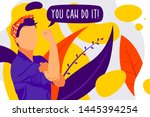 women's power. iconic woman's... | Shutterstock .eps vector #1445394254