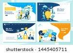 set of landing page design... | Shutterstock .eps vector #1445405711