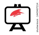 painting board icon. logo... | Shutterstock .eps vector #1445407214