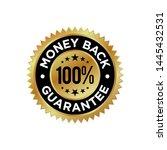 guarantee gold emblem seal... | Shutterstock .eps vector #1445432531