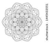 zentangle mandala for... | Shutterstock .eps vector #1445433551