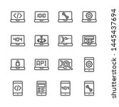 programming and coding icon set....