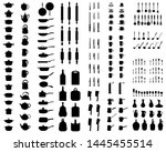 black silhouettes of... | Shutterstock . vector #1445455514