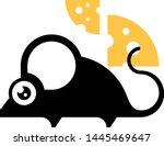 mouse black silhouette vector... | Shutterstock .eps vector #1445469647