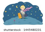 tale of a boy  a rose  a planet ... | Shutterstock .eps vector #1445480231