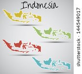 stickers in form of indonesia | Shutterstock . vector #144549017