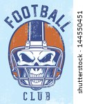 american,bones,club,dead,design,football,game,grunge,halloween,helmet,horror,icon,league,merchandise,national
