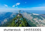 Small photo of RIO DE JANEIRO , Brazil, May 20, 2019: Aerial view of Christ Redeemer and Corcovado Mountain. Rio de Janeiro is the cultural capital of Brazil and is a favorite destination for tourists. Panorama