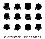 black shield labels with... | Shutterstock .eps vector #1445553551