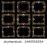 art deco frames. gold deco... | Shutterstock .eps vector #1445553554