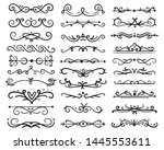 decorative swirls dividers. old ... | Shutterstock .eps vector #1445553611
