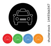 taxi icon taxicab car symbol in ... | Shutterstock .eps vector #1445566547