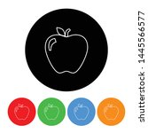 apple icon fruit symbol in an... | Shutterstock .eps vector #1445566577