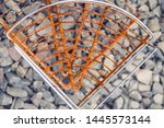 iron texture for background.... | Shutterstock . vector #1445573144