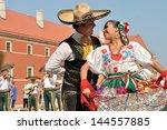 warsaw   august 27  dancers of...   Shutterstock . vector #144557885