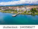 aerial view of morges city...   Shutterstock . vector #1445580677