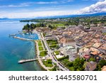 aerial view of morges city...   Shutterstock . vector #1445580701