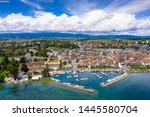 aerial view of morges castle in ...   Shutterstock . vector #1445580704