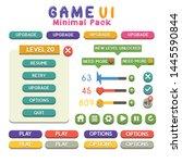 game ui kit colorful set of...