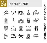 set of healthcare icons such as ... | Shutterstock .eps vector #1445595824