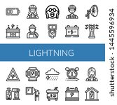 set of lightning icons such as... | Shutterstock .eps vector #1445596934