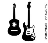 acoustic guitar and electric... | Shutterstock .eps vector #1445600747