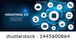 industry 4.0 futuristic banner... | Shutterstock .eps vector #1445600864