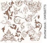 vector set of calligraphic... | Shutterstock .eps vector #144560771